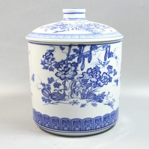 "RZAA01 11.4"" Jingdezhen white blue ceramic jars"