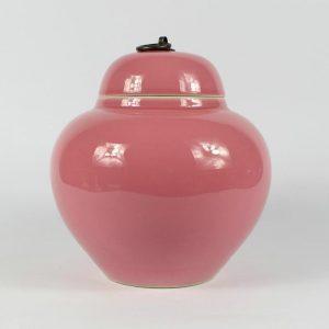 "RZBF09 7.8"" ceramic pink glazed tea jars"