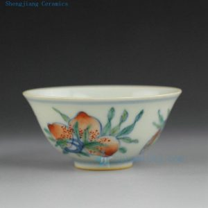 Jingdezhen hand made hand painted blue and white doucai tea cups