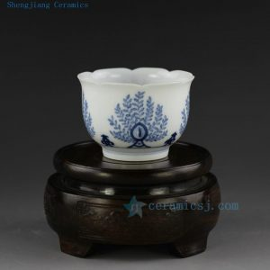 Jingdezhen hand made hand painted blue white tea cups
