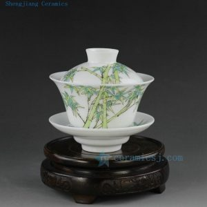 Jingdezhen hand made painted porcelain tea pots gaiwan