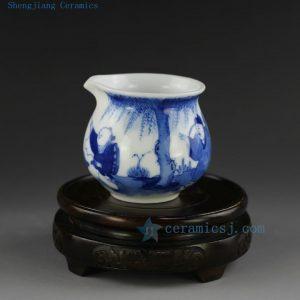 Jingdezhen hand made painted blue white porcelain tea fair mug