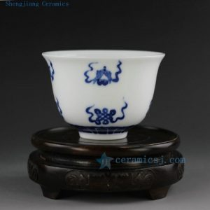 200cc Jingdezhen hand made painted blue white porcelain tea cups