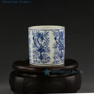 hand made painted Jingdezhen blue white porcelain tea cups