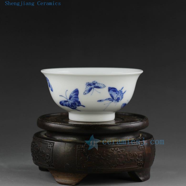 Hand Made Painted Jingdezhen Blue White Porcelain Tea Cups