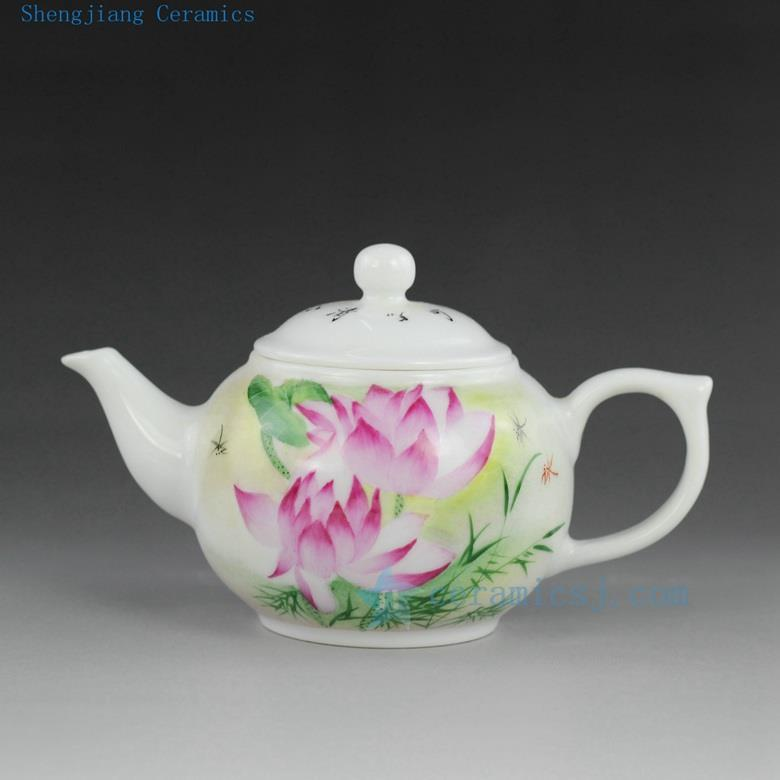 Jingdezhen Hand Made Painted Porcelain Tea Cups And Pots