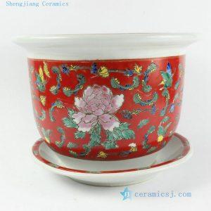 """RZCR01 H11"""" Jingdezhen famille rose floral design ceramic flower pots"""
