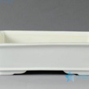 "ZO10 7.5"" White ceramic rectangles planter"
