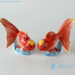Jingdezhen ceramic goldfish figurine