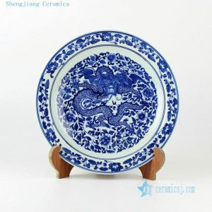 "11.4"" Hand painted blue and white chinese ceramics decor plate 9 designs"