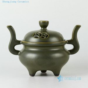 Ceramic Chinese incense burner vases and tea pot