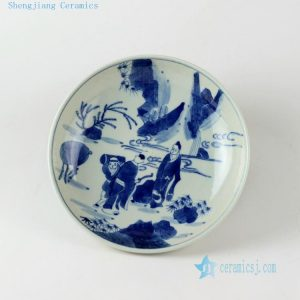 Ceramic Chinese blue white plates
