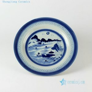 "9.2"" Ceramic Chinese blue and white plates"