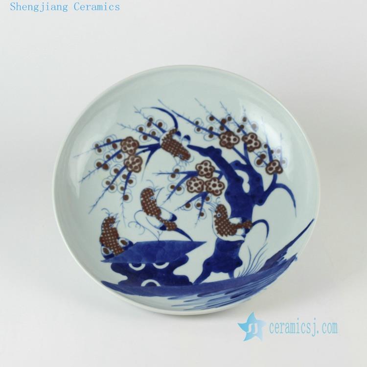 ceramic chinese blue and white decor plates jingdezhen. Black Bedroom Furniture Sets. Home Design Ideas