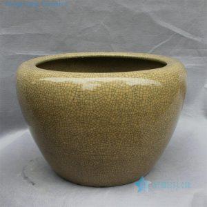 "RYHD25 20.8"" Crackle glazed ceramic planters"