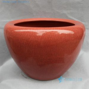 "RYHD26 20"" Crackle glazed ceramic planters Red"