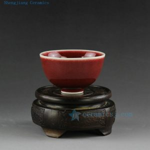 Jingdezhen oxblood tea cups