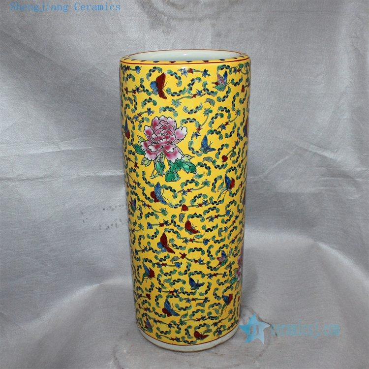 Rzcx01 22 And 16 Famille Rose Floral Painted Ceramic