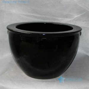 "RZDE04 16"" Chinese ceramic fish bowls black"