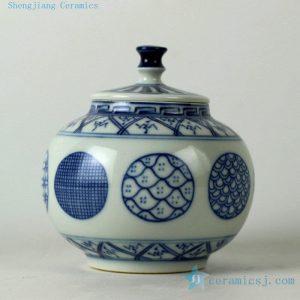 RZBP03 Jingdezhen hand painted blue and white tea jars