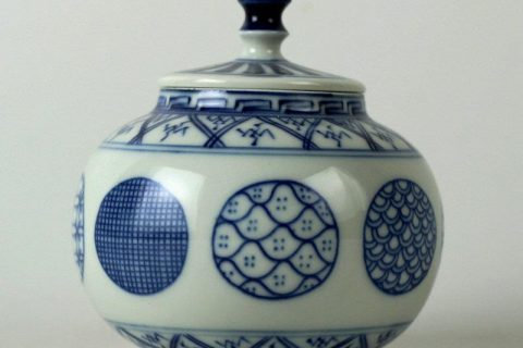 RZBP03 Jingdezhen hand painted blue and white tea jars