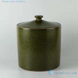 "RZDM01 11.5"" Tea dust color ceramic tea jars"