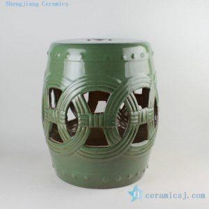 """RYIR106 18"""" Chinese ceramic stools"""