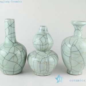 RYXC32 Ceramic crackle glazed small vases