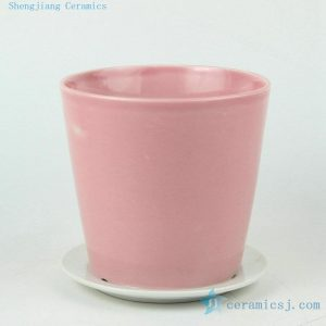 solid color ceramic flower pots