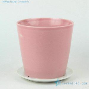 solid color ceramic flower pots
