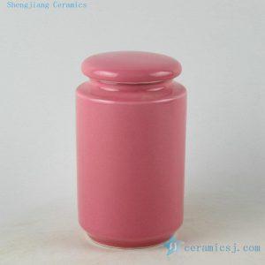Jingdezhen porcelain solid color tea jars