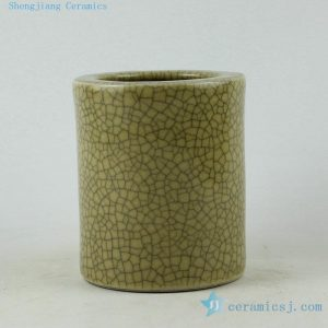 RZDU01 Jingdezhen porcelain crackle tea brush holder