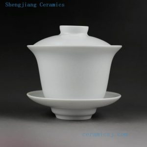 Jingdezhen hand made solid color porcelain Gaiwan