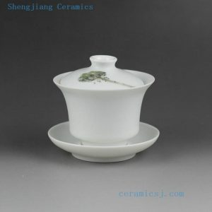 Jingdezhen hand made painted porcelain Gaiwan