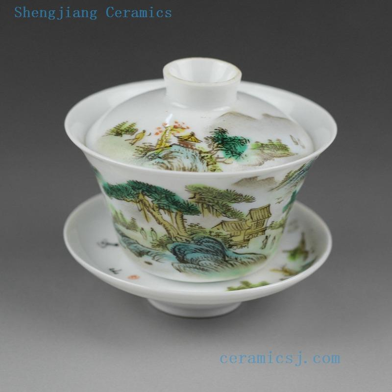 100cc Jingdezhen Hand Made Famille Rose Painted Porcelain