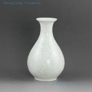 5 designs Hand engraved ceramic small flower vases