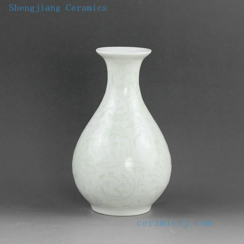 5 Designs Hand Engraved Ceramic Small Flower Vases Jingdezhen
