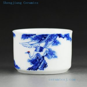 High quality hand made painted blue and white porcelain tea cups in 19 designs