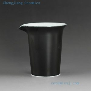 Plain color porcelain tea fair cup