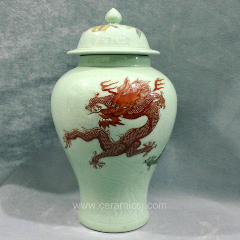 yellow dragon ceramic Home Decor Flower Vase RYUX05