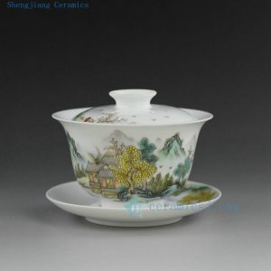 porcelain high quality hand painted tea cups gaiwan