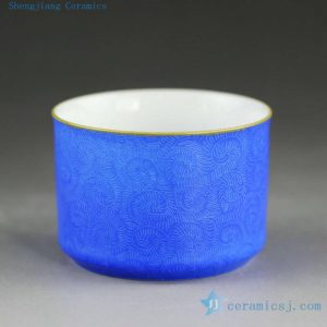 Hand needle painting porcelain tea cups