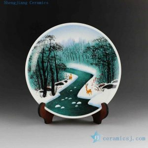 "10.6"" Ceramic decoration plate"
