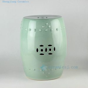"RYKB111 H17"" Chinese ceramic garden stools solid color"