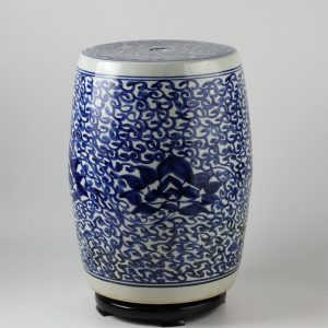 Jingdezhen hand painted blue and white ceramic stools