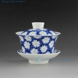porcelain blue white tea cups gaiwan