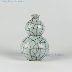 "H6"" Small porcelain crackle vases"
