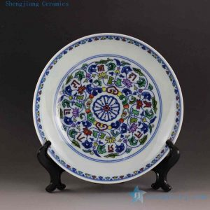 "RYYE03 7.9"" Hand painted Chinese porcelain charger"