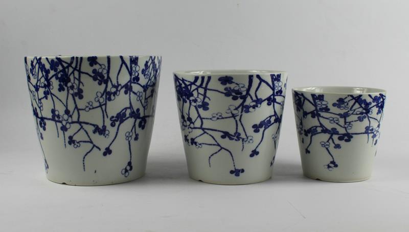 Blue white ceramic flower pots set of three jingdezhen shengjiang ryyf075236j513 mightylinksfo