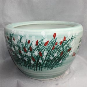 "RYYY29 20.5"" Ceramic flower planters floral design"